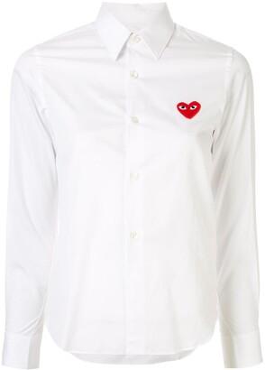 Comme des Garcons Heart Logo Cotton Shirt