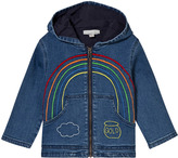 Stella McCartney Bubba Denim Jacket with Rainbow Embroidery