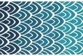 """Danko Ikat Hooked Blue Indoor / Outdoor Area Rug Wrought Studio Rug Size: Rectangle 2'3"""" x 3'9"""""""