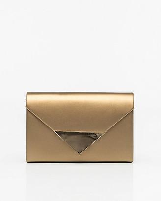 Le Château Metallic Faux Leather Envelope Clutch