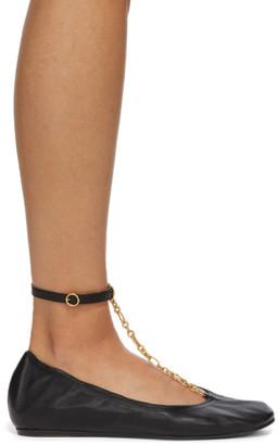 Lanvin Black Chain Strap Ballerina Flats