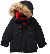 Diesel Faux Fur Trimmed Parka (Little Boys)