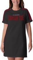 G Iii Women's G-III 4Her by Carl Banks Black Alabama Crimson Tide Training Camp Tee Dress