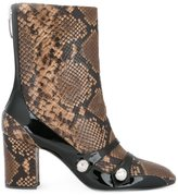 No.21 snakeskin-effect boots