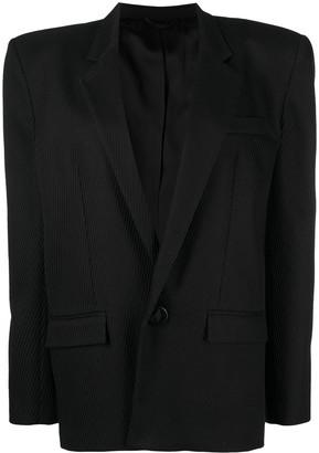 ATTICO Padded Shoulder Single-Breasted Blazer
