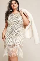 Forever 21 FOREVER 21+ Plus Size Unique Vintage Sequin Fringe Dress