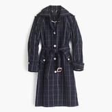 J.Crew Pre-order Collection trench coat in windowpane