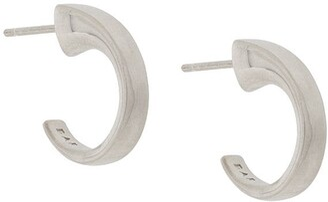 BAR JEWELLERY Taper hoop earrings
