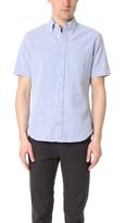 Gitman Brothers Short Sleeve Blue Seersucker Shirt