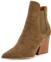 KENDALL + KYLIE Finley Pointed-Toe Chelsea Boot, Fatigue Green
