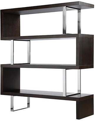 One Kings Lane Santoni Bookcase - Espresso - dark espresso/silver