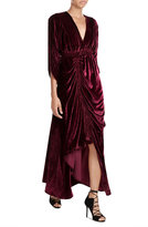 Preen Draped Velvet Dress
