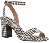 Tabitha Simmons Leticia Houndstooth Sandals