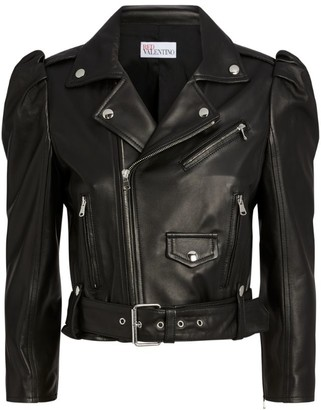 RED Valentino Cropped Leather Jacket