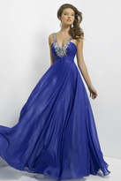 Blush Lingerie Embellished V Neck Long Dress 9777