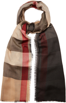 Burberry House-check cashmere scarf