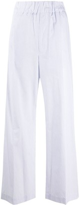 Jejia Grid Check High-Rise Wide-Leg Trousers
