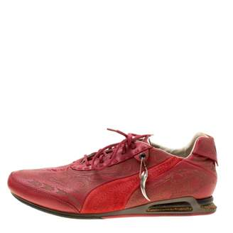 Alexander McQueen Red Leather Trainers