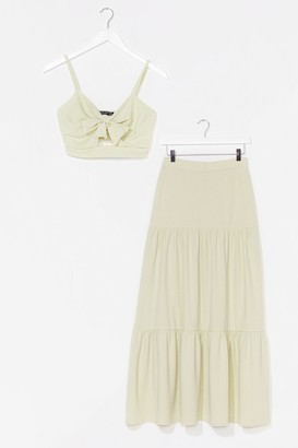Nasty Gal Womens You're No Match For Us Crop Top and Maxi Skirt Set - White - 6, White