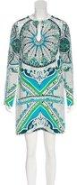 Emilio Pucci Silk Abstract Print Dress w/ Tags