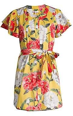 1f144c462ca462 Parker Women's Nate Floral Flutter-Sleeve Shirtdress