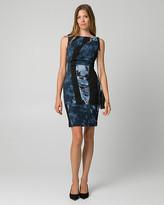 Le Château Geo Print Knit Crepe Shift Dress
