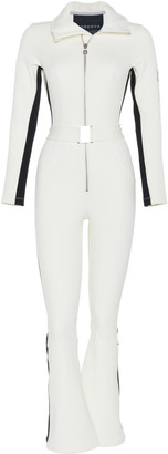 Cordova The Belted Striped Stretch-Shell Ski Suit