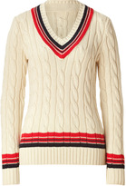 Ralph Lauren Cream, Red, and Navy Cricket Pullover