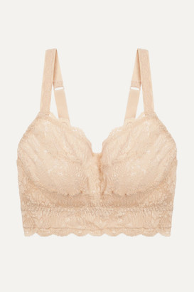 Cosabella Never Say Never Curvy Sweetie Dd-f Stretch-lace Soft-cup Bra - Blush