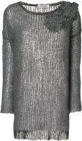 Valentino floral appliqué knit jumper - women - Polyamide/Spandex/Elastane/Mohair - XS