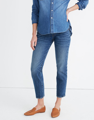 Madewell Maternity Side-Panel Classic Straight Jeans in Carsondale Wash: Adjustable Edition