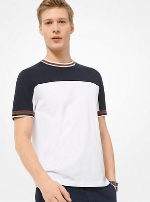 Michael Kors Color-Block Cotton T-Shirt