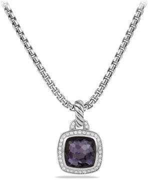 David Yurman Albion® Pendant With Black Orchid And Diamonds, 11Mm