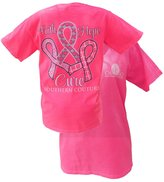 Southern Couture Women's Faith Hope Cure Breast Cancer Awareness Short-Sleeve Tee Shirt