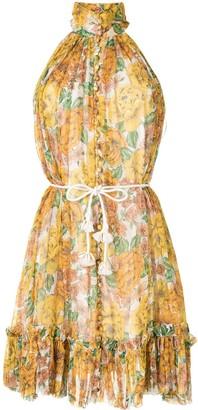 Zimmermann Floral Print Haterneck Dress