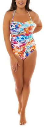 Seaspray Paradise Draped Bandeau Swimsuit