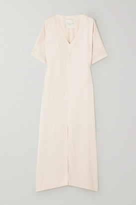 ENVELOPE1976 Net Sustain Tokyo Crepe De Chine Maxi Dress - Cream