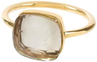 Amadeus Sophia Prasiolte Gemstone Gold Ring