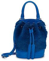 Luana Italy Theo Fur Mini Bucket Bag