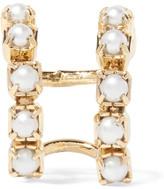 Dannijo Kiki Gold-plated Faux Pearl Ear Cuff - one size