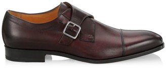 Saks Fifth Avenue COLLECTION Douglas Leather Single Monk-Strap Shoes
