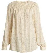 Vince Silk floral-print blouse
