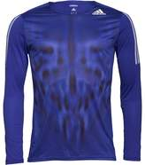 adidas Mens Adizero 3 Stripe ClimaLite Long Sleeve Running Top Night Flash