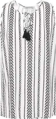 Tart Collections Tassel-trimmed Gauze Top