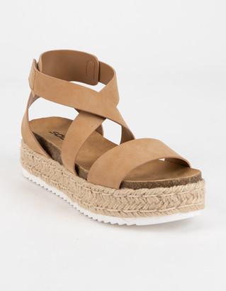 Soda Sunglasses Ankle Banded Womens Platform Sandals