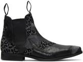 Comme des Garcons Black Leather Patchwork Chelsea Boots
