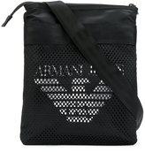 Armani Jeans mesh logo messenger bag - men - Polyamide/Polyester - One Size
