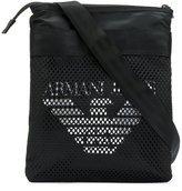 Armani Jeans mesh logo messenger bag