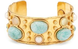 Sylvia Toledano - Amazonite-cabochon Gold-plated Cuff - Gold