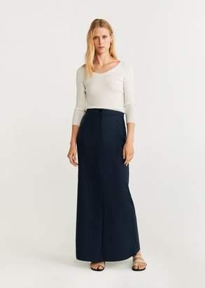 MANGO Straight long skirt